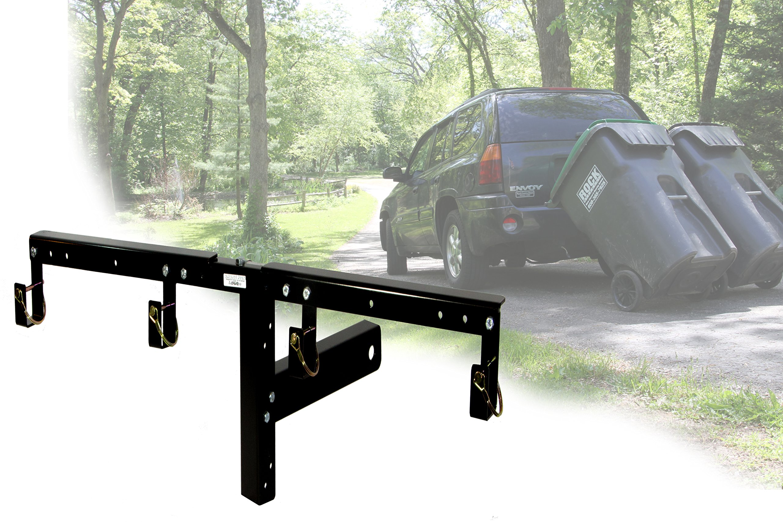 Dual-Can Garbage Hauling Hitch cans Cannot Come Loose. Garbage Hooks are The Perfect Solution for Getting Wheeled Garbage constrainers Out When You Have a Long/steep Driveway, or challenging Terrain by Garbage Commander (Image #2)