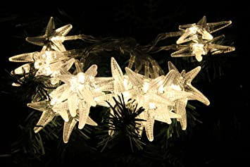 20 LED Starfish Shaped String Lights (Warm White) For Home Indoor Outdoor  Party Decor