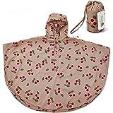 (iSmile) レインコート キッズ カッパ (ポンチョ タイプ) 子供 雨具 携帯ポーチ付き