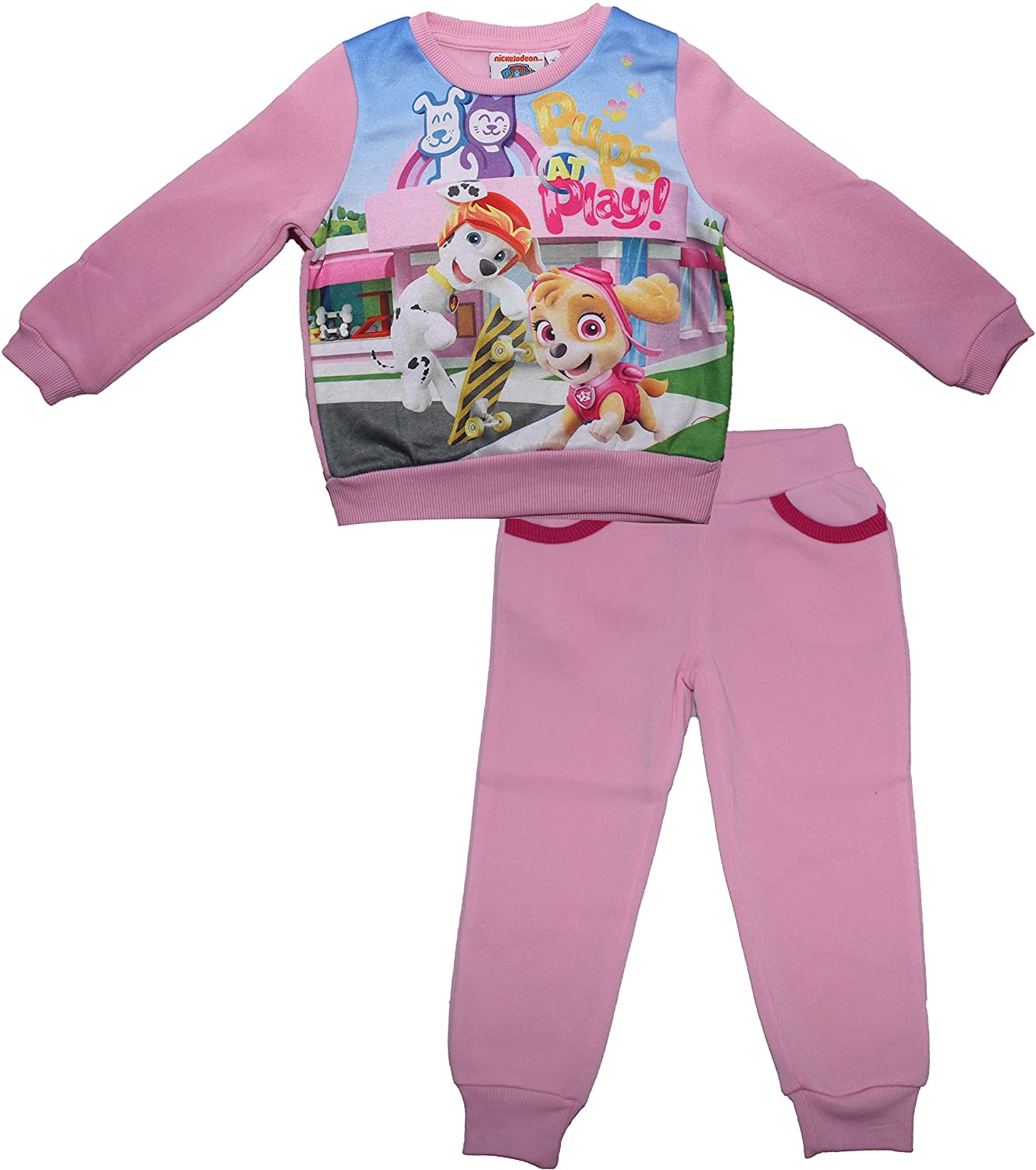 PAW PATROL GIRLS Sky and Everest Cuddle Pups Childrens Tracksuit New 2017-2018