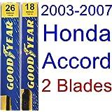 2003-2007 Honda Accord Replacement Wiper Blade Set/Kit (Set of 2 Blades