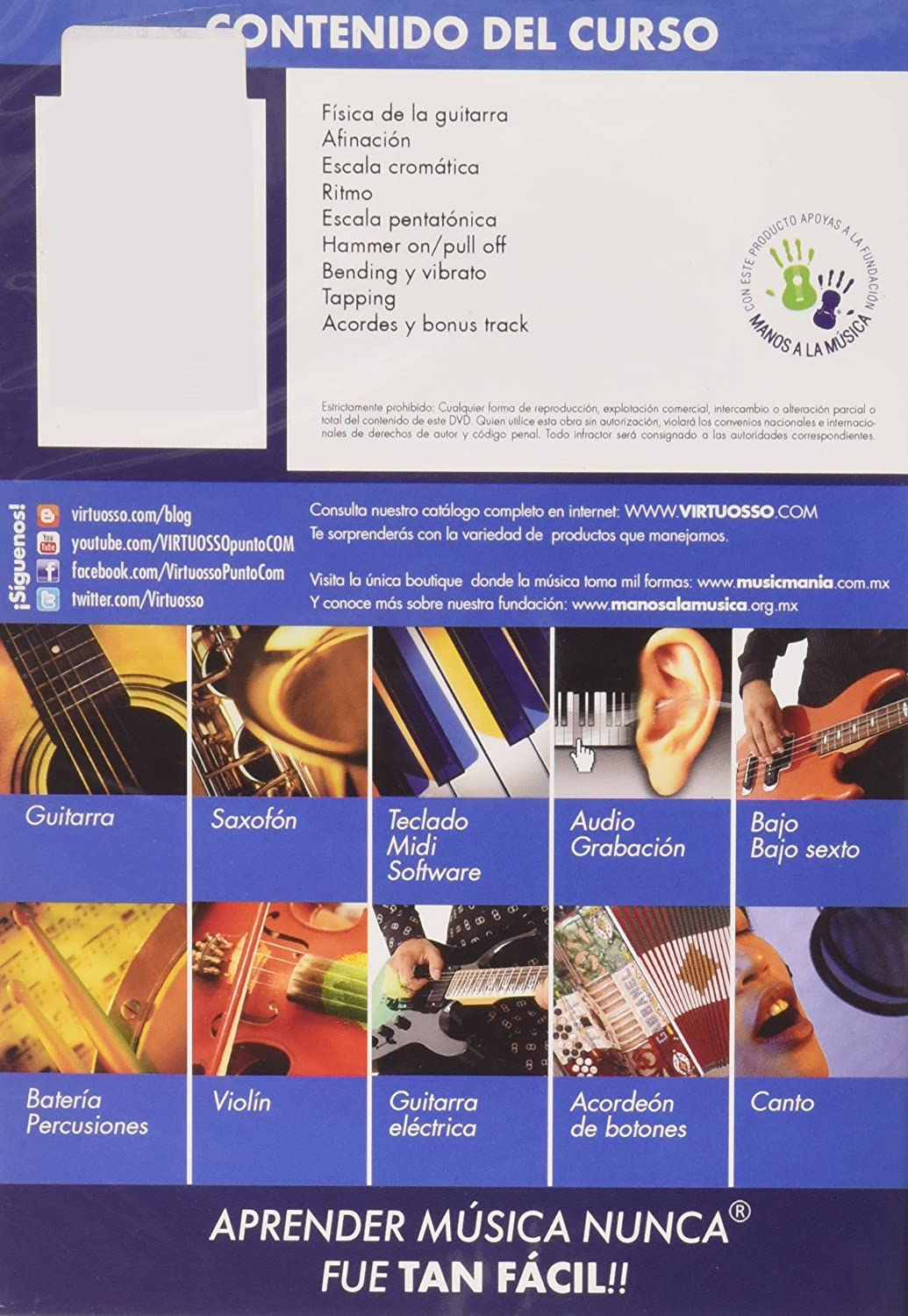 Amazon.com: Virtuosso Electric Guitar Method Vol.1 (Curso De Guitarra Eléctrica Vol.1) SPANISH ONLY: Musical Instruments