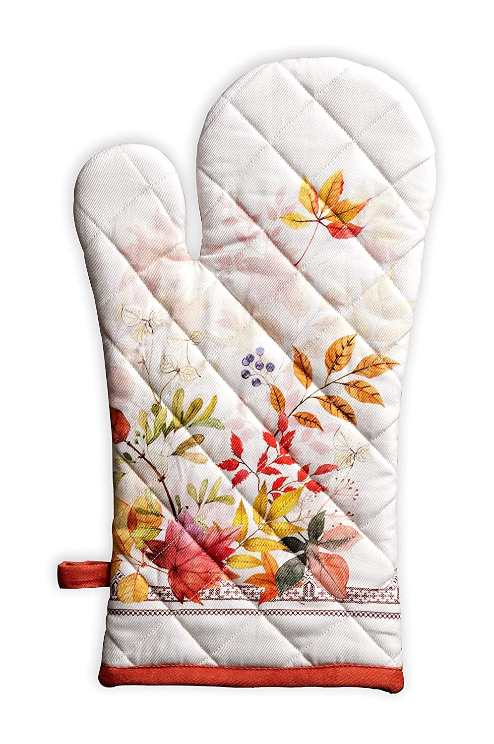 Maison d' Hermine Amarante 100% Cotton Oven Mitt 7.5 Inch by 13 Inch. Perfect for Thanksgiving and Christmas