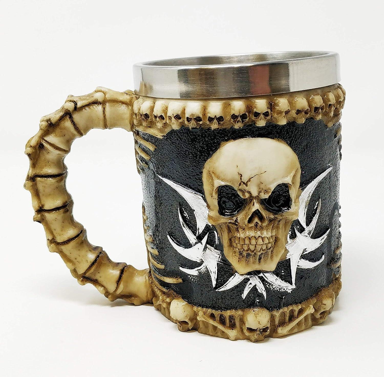 JR1382 JRose Collections Reaper Design Stainless Steel Tankard Mug