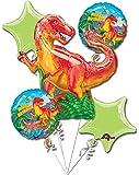 Dinosaur Party Balloon 5 Piece Bouquet
