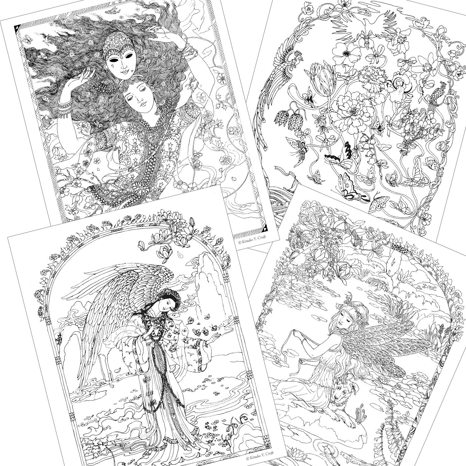 amazon com myth u0026 magic an enchanted fantasy coloring book by