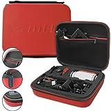 mtb more energy® Mallette (XL, rouge) pour Garmin Virb Elite, X, XE / Drift Ghost-S / TomTom Bandit / Contour.. - Etui Pochette Coffre Modulaire