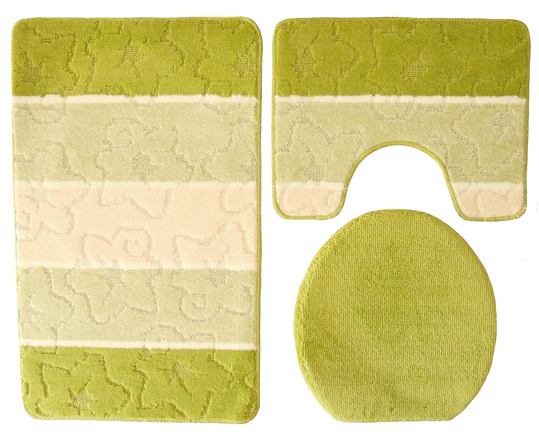 Orion 1801.00/ /Juego 3/piezas 50/x 80/cm Kiwi verde beige ba/ño con recorte para inodoro