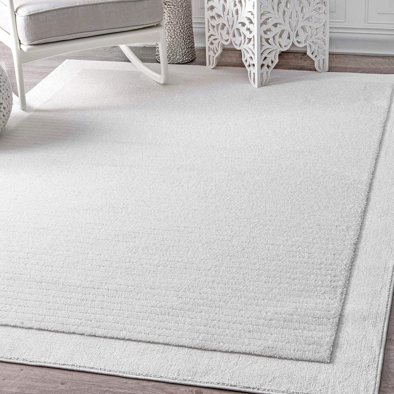 Amazon.com: Contemporáneo alfombra y rayas sólidas simples ...