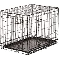AmazonBasics Single / Double Door Folding Metal Dog Crate with Paw Protector