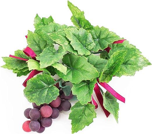 Portavelas navideño con uvas y hojas de parra, rojo, Ø 13 cm ...