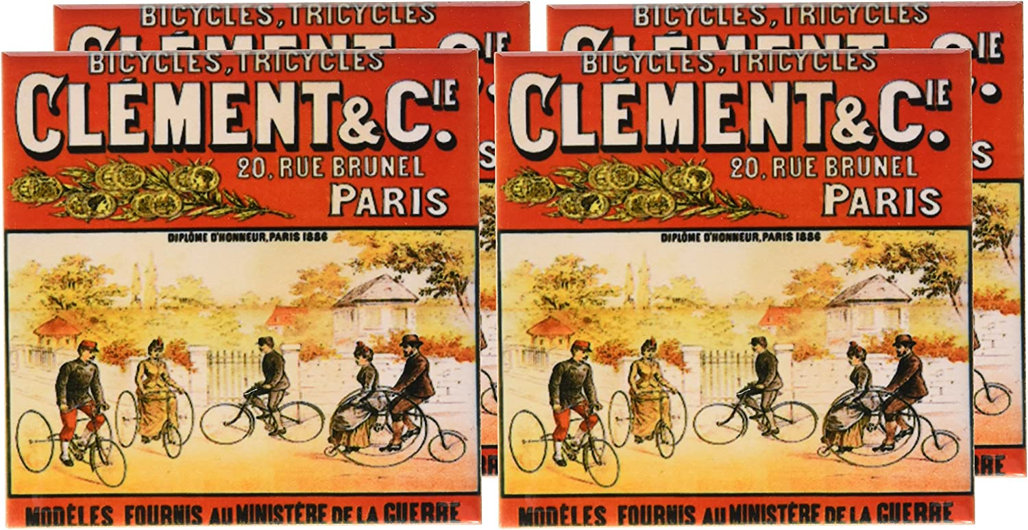 3drose Cst 153399 3 Clement And Cie Bicycles Tricycles Paris France Advertising Poster Ceramic Tile Coasters Set Of 4 Amazon Co Uk Kitchen Home