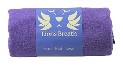 Lions Breath Yoga Towels for Hot Yoga Non Slip | Soft Premium Microfiber Mat Cover, Precision Fit Large (24