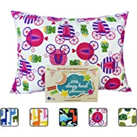 Little Sleepy Head Toddler Pillowcase - Utopia Collection: Carriages, 13 X 18