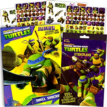 Amazon.com: TMNT teenage mutant ninja turtles colorear y ...