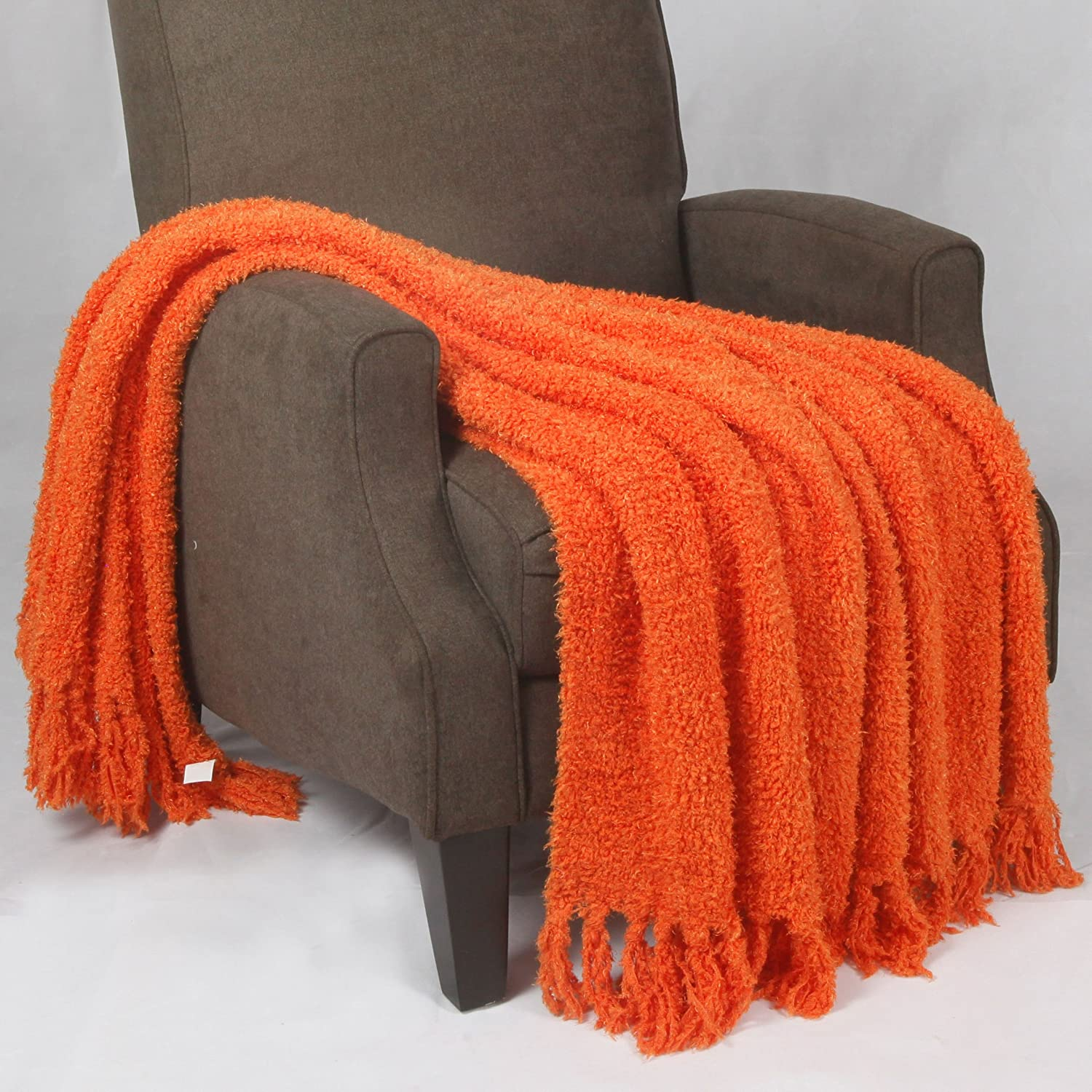 Home Soft Things Fluffy Knitted Woven Throw Couch Cover Sofa Blanket, 50
