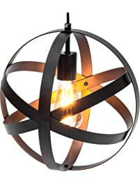 Superb Best Choice Products Hanging Metal Spherical Pendant Chandelier Lighting Fixture Bronze