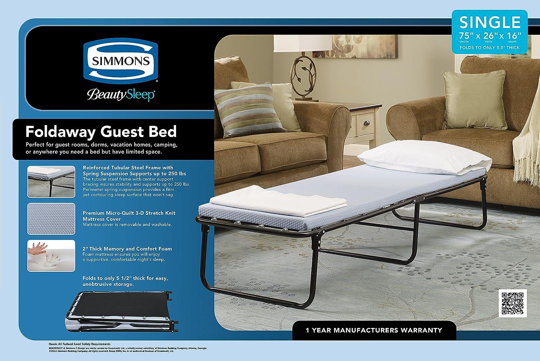 Simmons Belleza Dormir Cama de Invitados Plegable (Doble): Amazon.es: Hogar