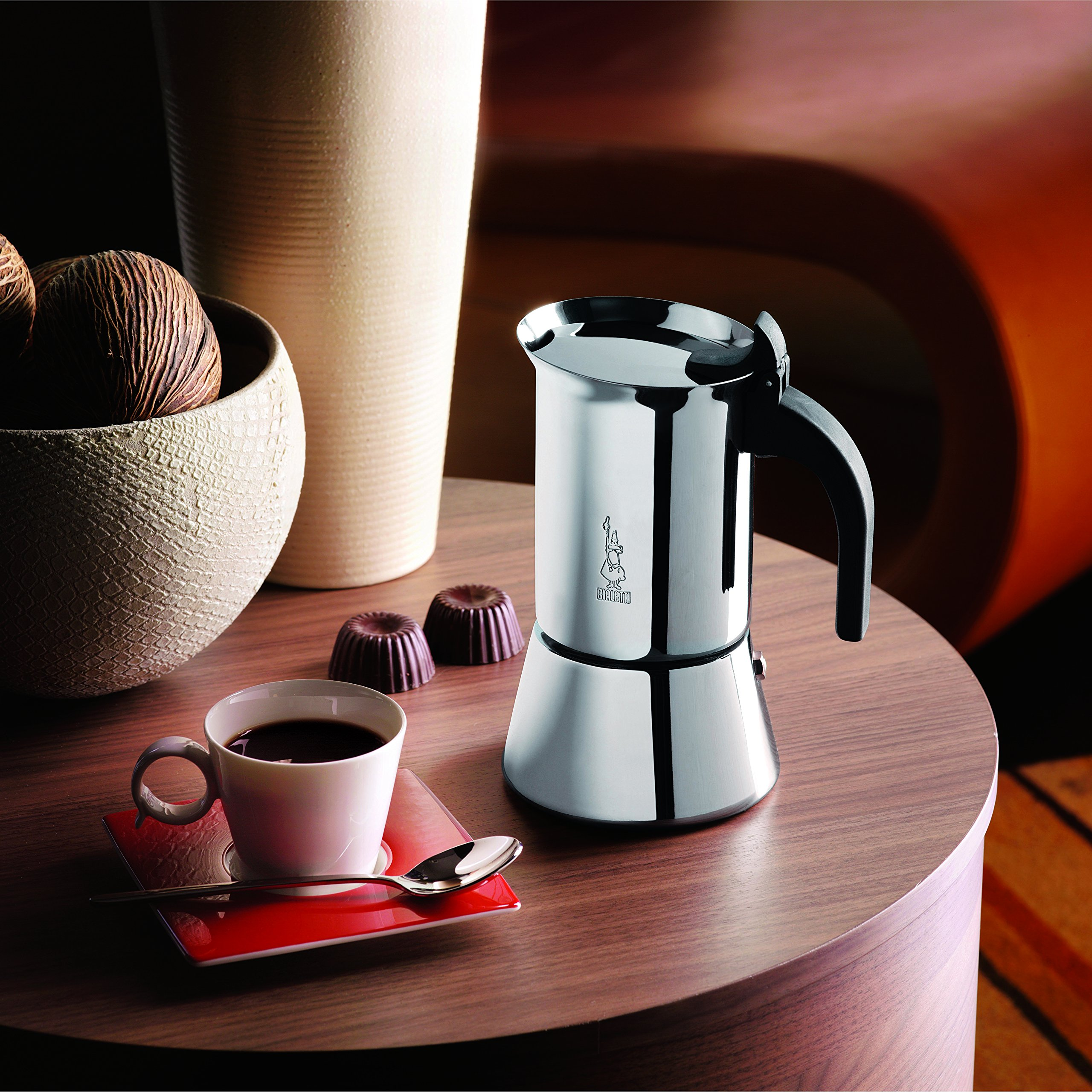 Venus Induction Capable Espresso Coffee Maker, Stainless Steel, 4 cup by Bialetti (Image #2)