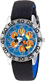 Disney Boy's 'Mickey Mouse' Quartz Plastic and Nylon Casual Watch, Color:Black (Model: WDS000110)