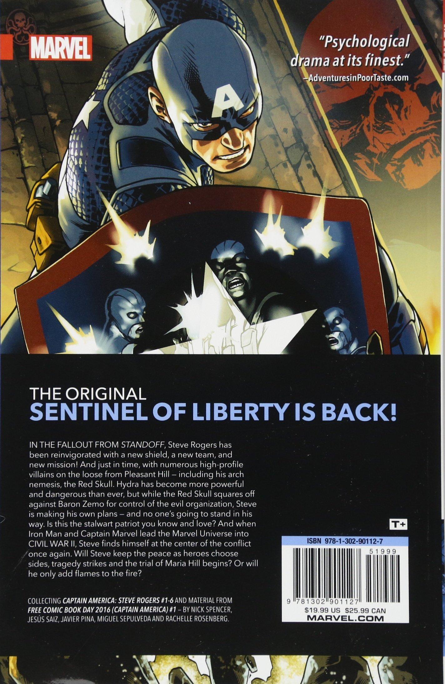 Amazon com: Captain America: Steve Rogers Vol  1: Hail Hydra