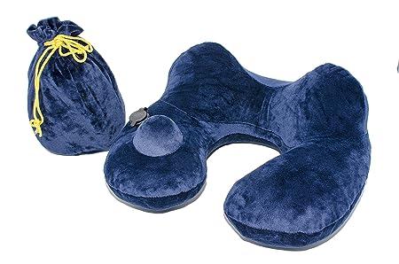 ZOOLY Inflable Almohada de Viaje hinchables Suave Almohada de Soporte portátil para el Cuello para un Viaje Largo Confort durmiendo en Avión, Tren, ...