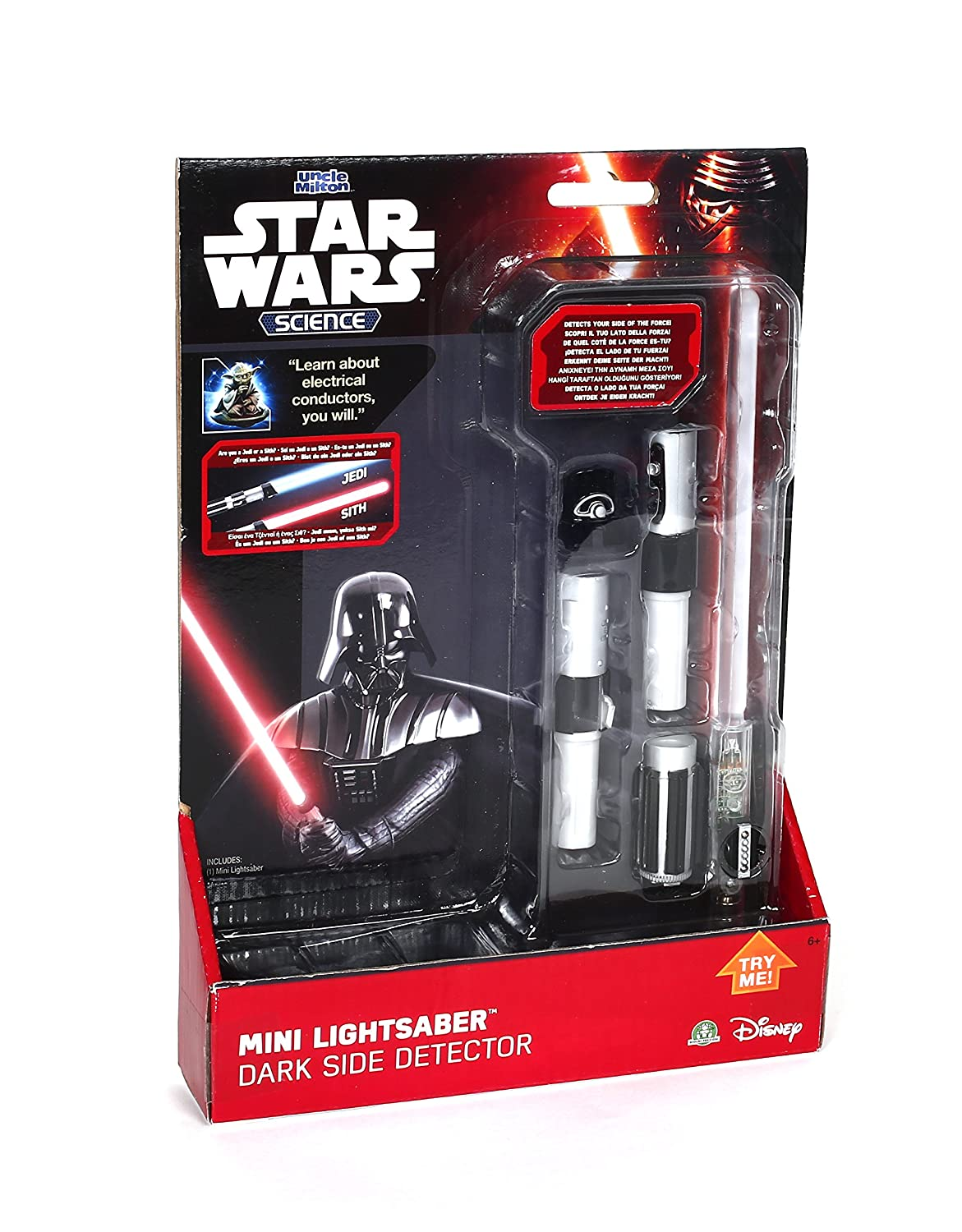 Star Wars Uncle Milton Science Mini Dark Side Detector Lightsaber Light Flair Leisure Products 75091