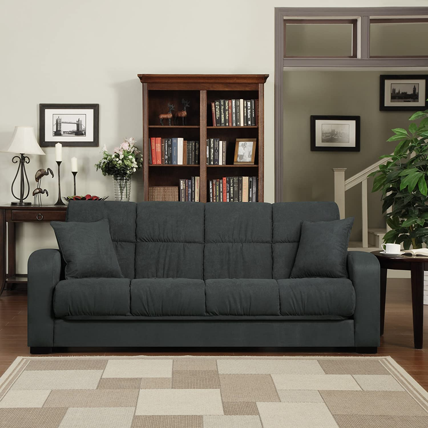 Amazon Handy Living Damen Convert a Couch in Gray Microfiber