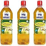 Bhuvanaeswari Gingelly Oil, 1000 ml (Pack of 3)