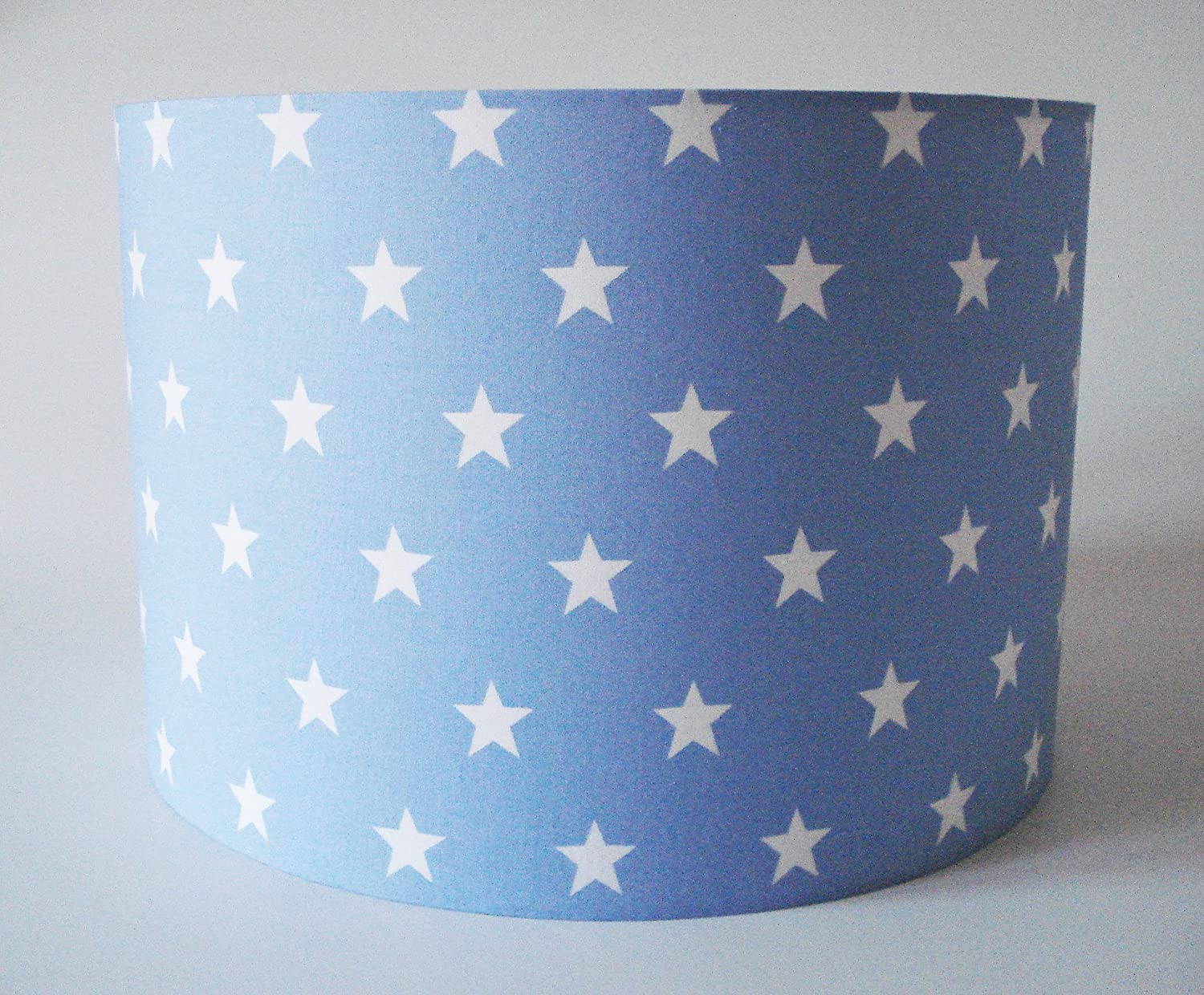 Pale blue fabric with white stars ceiling shade large amazon pale blue fabric with white stars ceiling shade large amazon lighting aloadofball Image collections