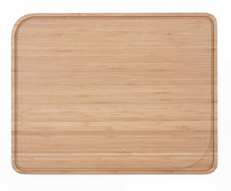 bamb/ú Natural, 37 29 x cm Pebbly NBA036 Tabla para Cortar con Canal