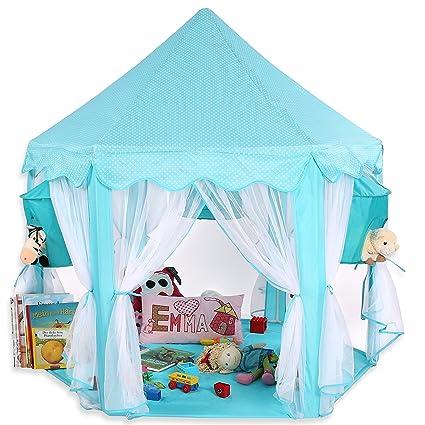 Azul KIDUKU® Tienda de juego para niños castillo para jugar castillo de princesa tienda de campaña para niños cueva de juego para niños disponible en tres colores