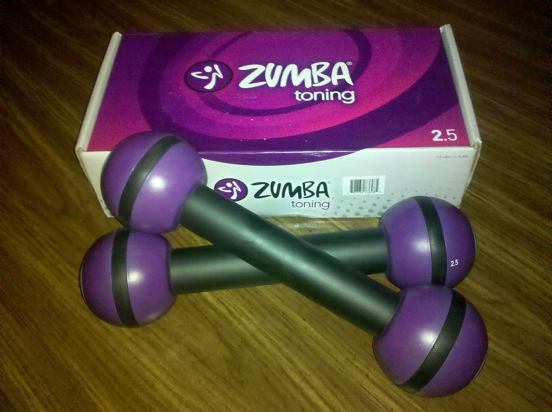 Zumba® Fitness mancuernas par de 2,5 # (nuevo en caja): Amazon.es ...