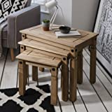 Nesting Tables | 3 Tables | Rustic Design | Corona Mexican Pine by House of Cotswolds