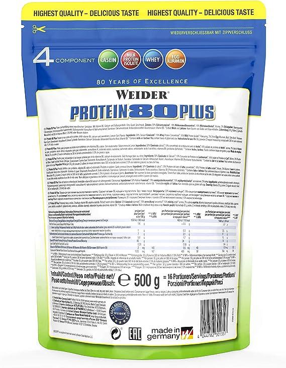 Weider Protein 80 Plus Queso Fresco Limón - 500 gr: Amazon.es ...
