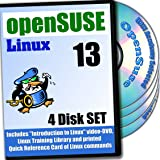 OpenSUSE 13.2 Linux, 4-disks DVD Installation and Reference Set