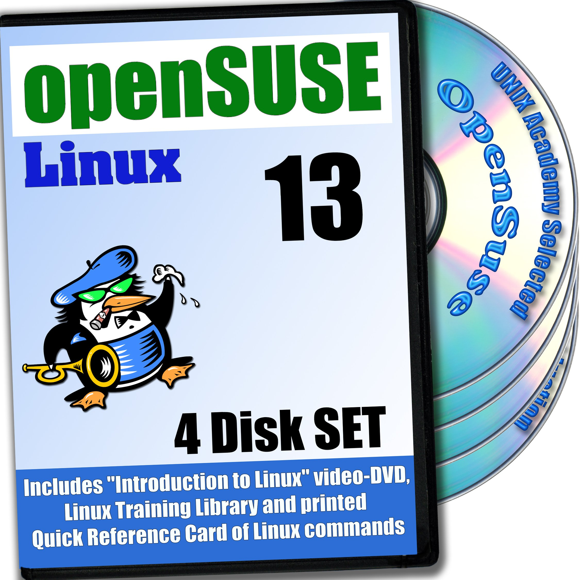 OpenSUSE 13.2 Linux, 4-disks DVD Installation and Reference Set by PRIZIX