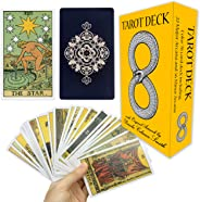 Classic Tarot Cards Deck with Original Pamela Colman Smith Artwork. This Premium Rider Waite Tarot Deck is a Long Lasting 78
