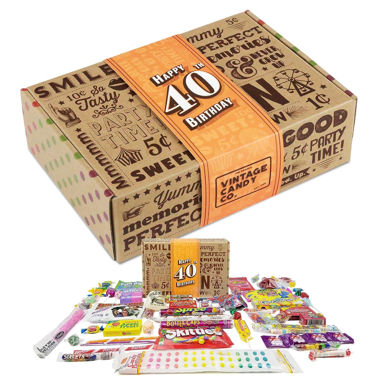 Caja de regalo VINTAGE CANDY CO. 40TH BIRTHDAY RETRO CANDY ...