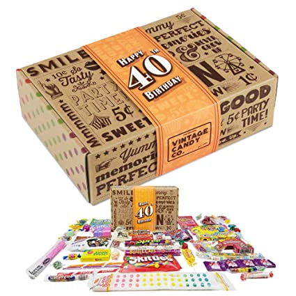 Caja de regalo VINTAGE CANDY CO. 40TH BIRTHDAY RETRO CANDY ...