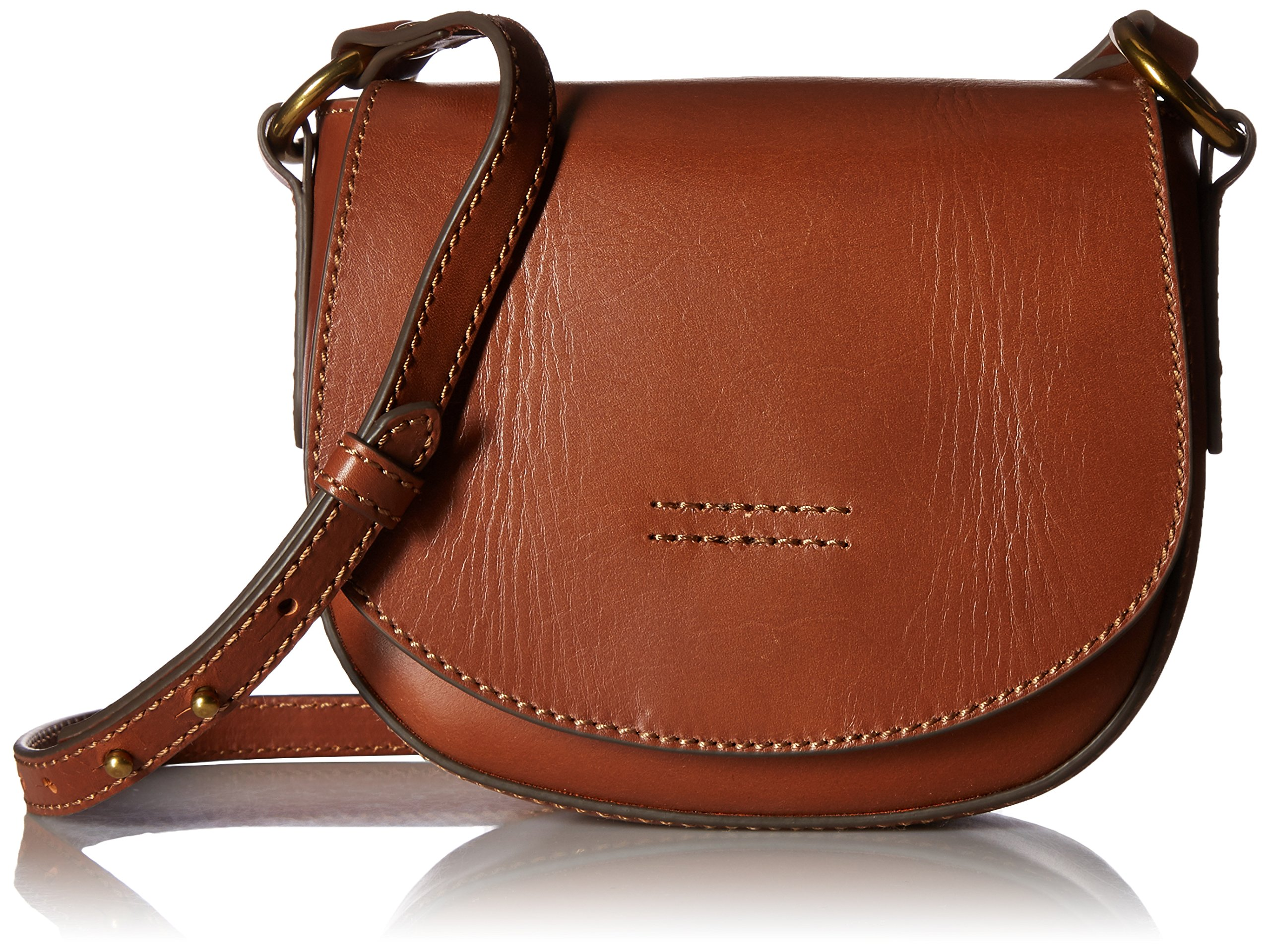 FRYE Harness Small Saddle, Rust by FRYE