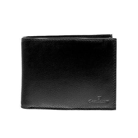 Continuum W-1522sw - Billetera cartera Premium para hombre estilo italiano hecha en piel cuero