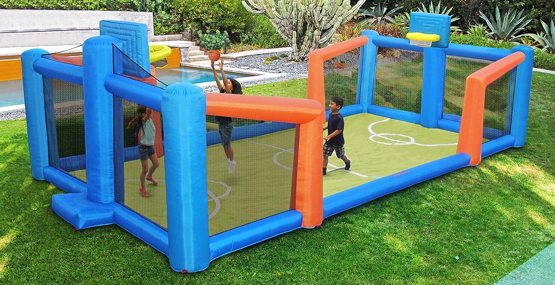 amazon com sportspower fly slama jama inflatable basketball court