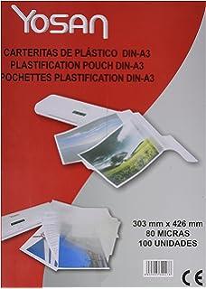 Caja De 100 Bolsas De Plastificar Yosan Din A4 125 Micras ...