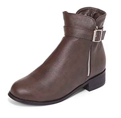Women's Karly Fur Lined Almond Toe Motorcycle Ankle Bootie w/Zipper by