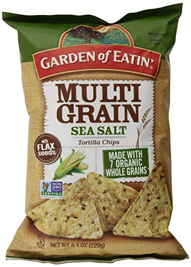 Perfect Garden Of Eatin Tortilla Chips, Multigrain Sea Salt, 8.1 Ounce