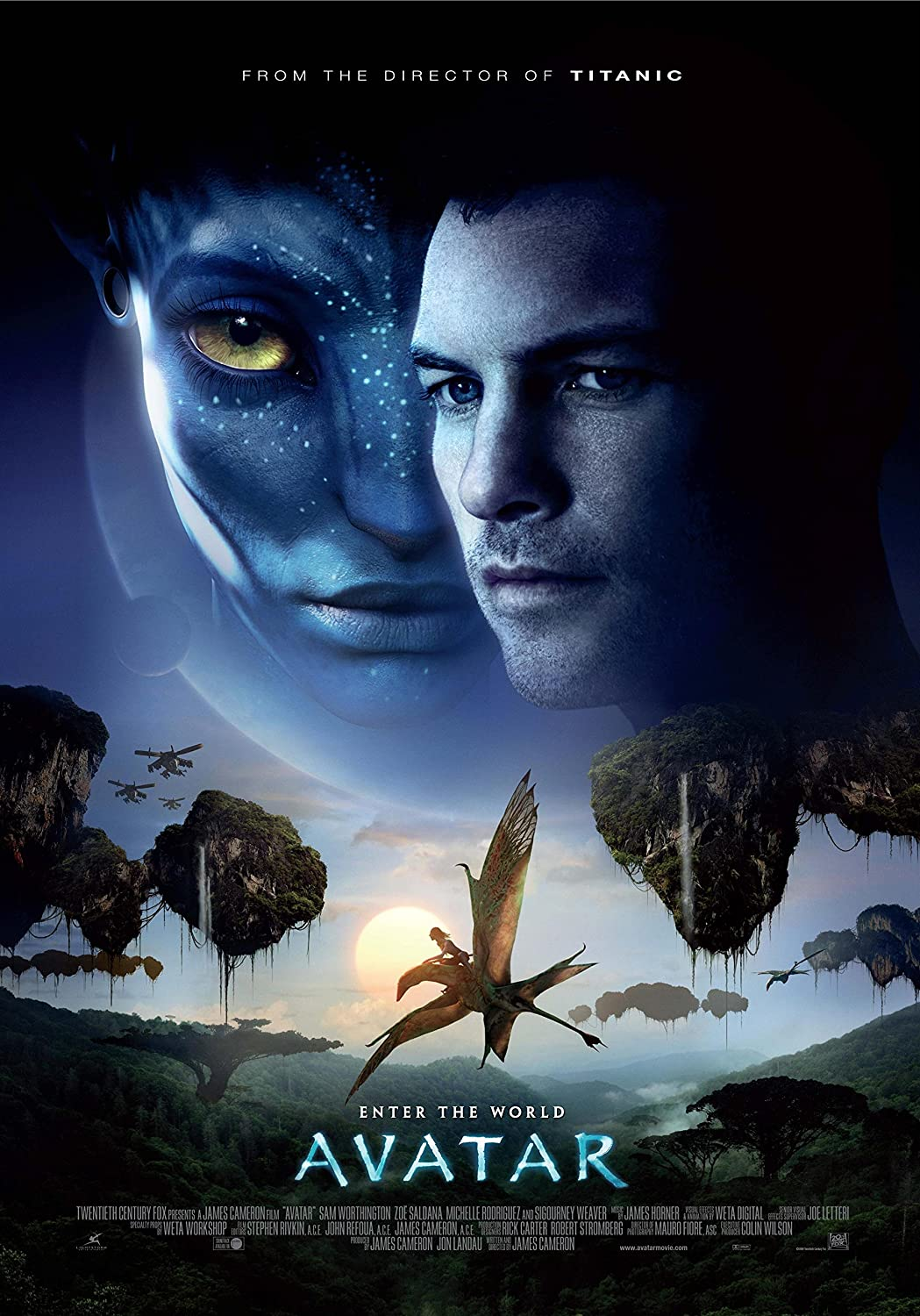 "Avatar 1 - 24"" X 36"" Movie Poster on Glossy Photo Paper (Thick 8mil) 2017: Sam Worthington, Zoe Saldana"