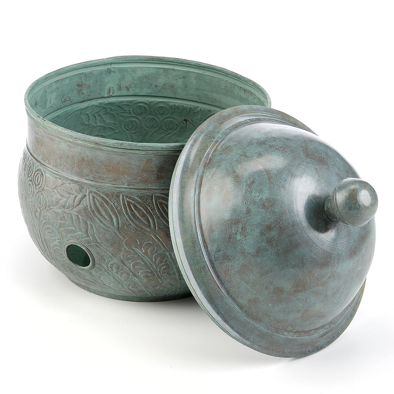 Good Directions Key West Hose Pot with Lid, Blue Verde