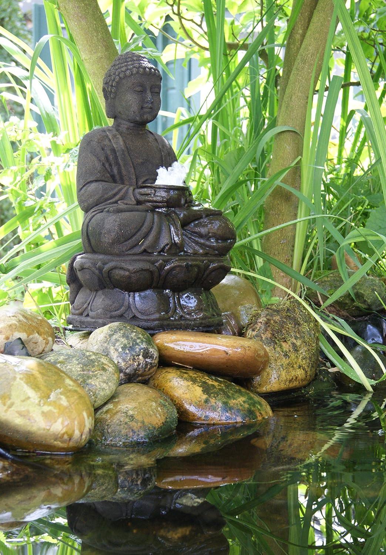 Ubbink Solo Buddhafigur mit Wasserspiel und LED Beleuchtung