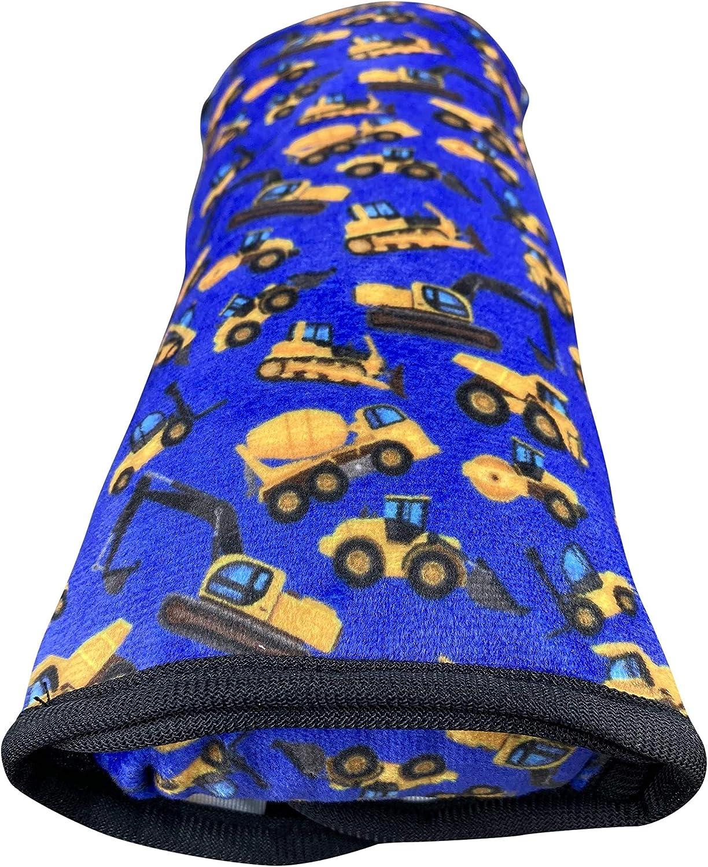 lavable a m/áquina suave almohadilla cintur/ón de seguridad Almohadilla HECKBO para coche con dibujos de veh/ículos de construcci/ón para ni/ños tacto de peluche